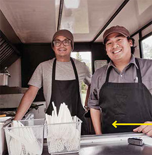 "Filisticks: Join the lineup for tasty Filipinoinfluenced fresh food like si sig, pork belly with ginger soy, hot chilies and lemon. The food on a stick concept? ""Oh, long gone,"" says Ariel. ""The prep was just too much, I would have had to make my aunt a full time employee."""