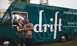 Nevin and Kara Fenske's Drift truck is known for its amazing back bacon sandwich