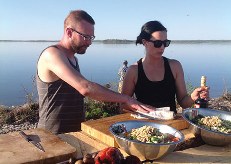 "Brayden Kozak (Three Boars Eatery) and Eden Hrabec, (Crazyweed) did a lot of prep on the island.""I made some great connections with some talented chefs,"" says Brayden. ""By the end of the trip it was 'all you people are awesome'."""