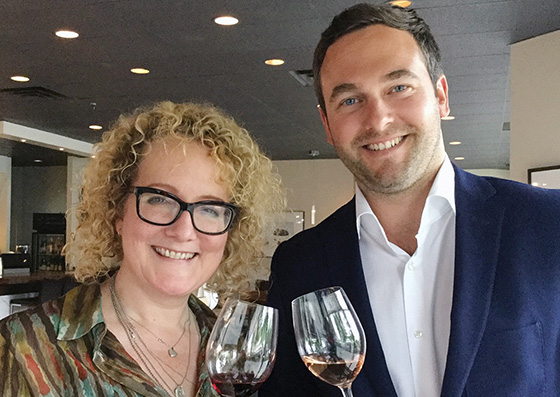 Dianna Funnell, Sherbooke Liquor and Flavien Lepert, Langlois Chateau.