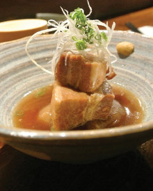 pork belly with udon noodles